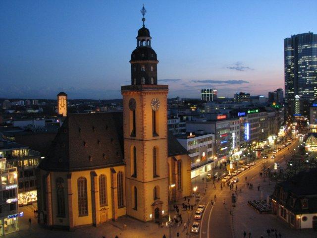 Ночной вид на город, Франкфурт-на-Майне
