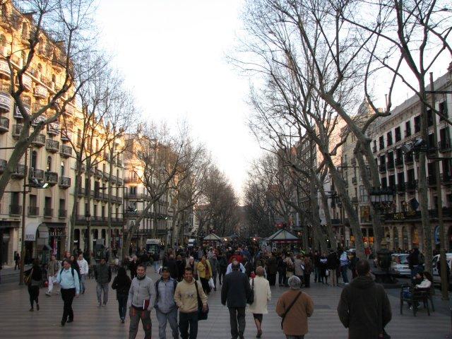 Пешеходная улица Рамбла, Барселона