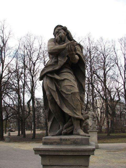 Скульптура в парке, Варшава