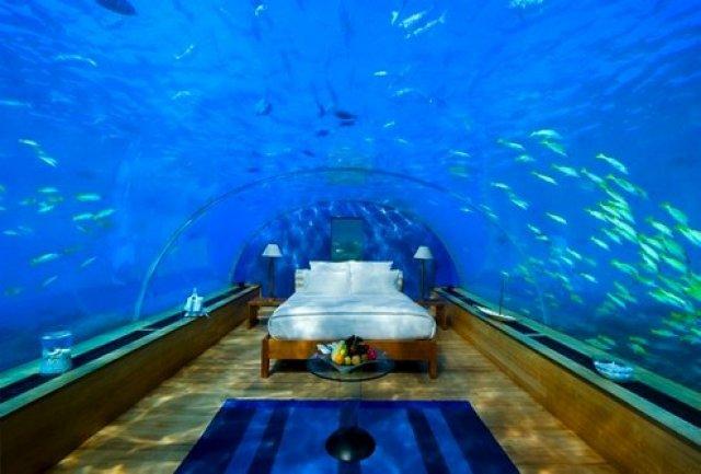 Отель-аквариум на Мальдивах