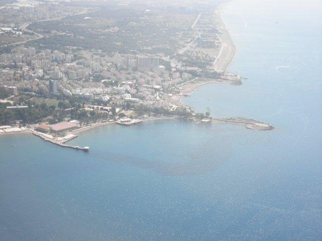 Побережье Турции. Вид из самолёта