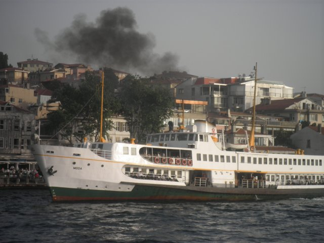 Стамбул. Пароход на проливе Босфор