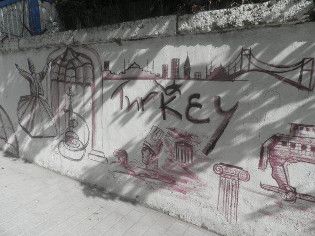 Настенные граффити Стамбула