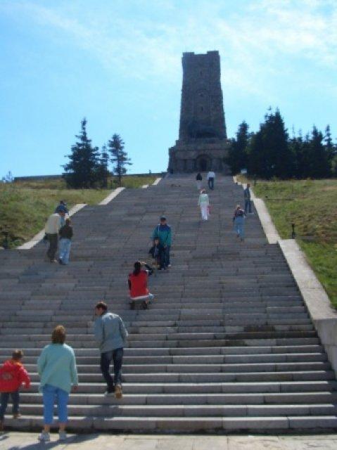 Поднимаемся к Памятнику Свободы, Болгария