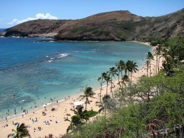 Пляж Hanauma Bay, Оаху, Гавайские острова