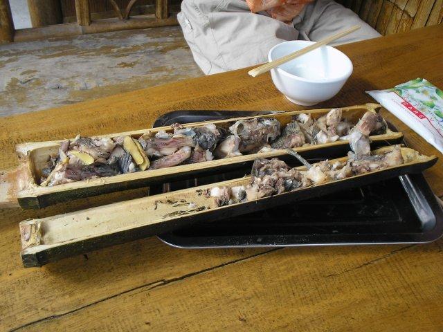 Рыба в бамбуке, Пинган