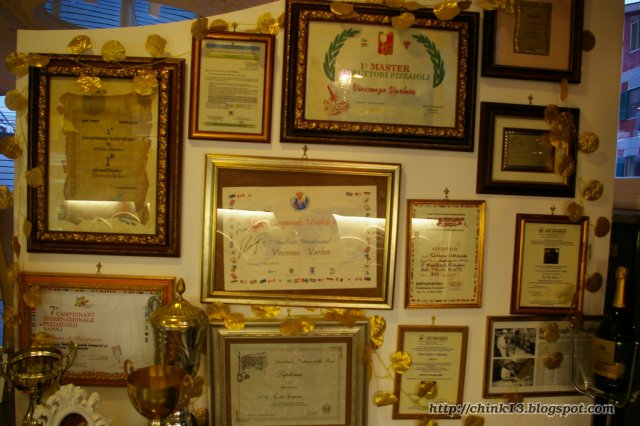 Часть дипломов Винченцо