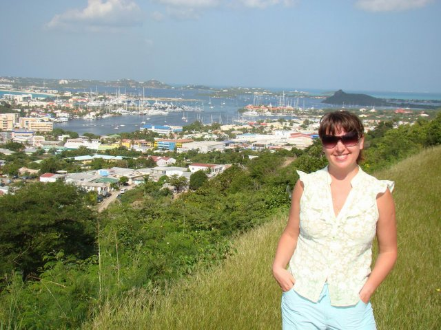Панорамный вид на Маригот (остров Сан-Мартен)