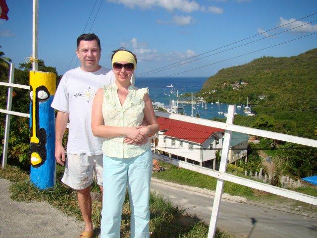 Панорама на бухту Мариго-Бей, остров Сент-Люсия