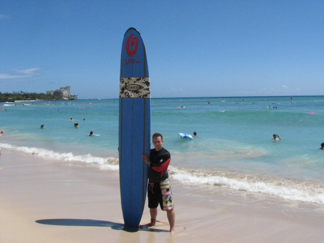 Серфинг, пляж Вайкики, Гавайи