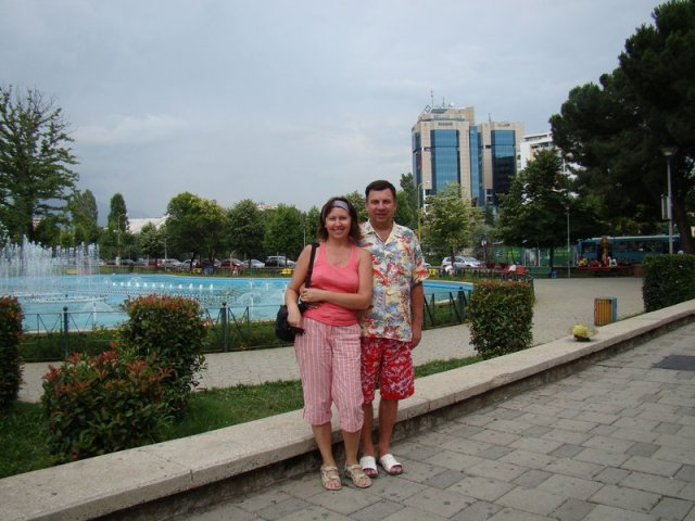 Столица Албании город Тирана, площадь Скандебега