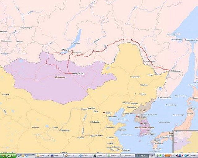 Маршрут автопутешествия Хабаровск - Монголия