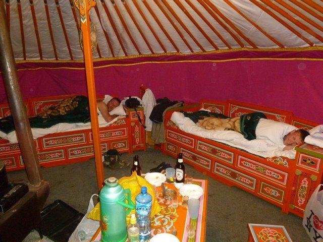 Отдых в юрте (гире), Монголия