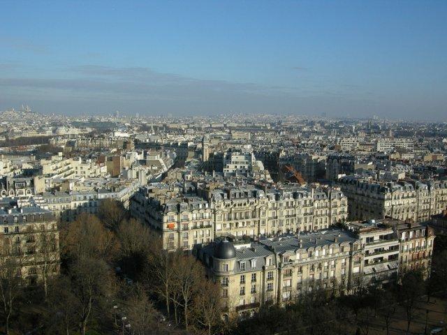 Вид с Эйфелевой башни, Париж