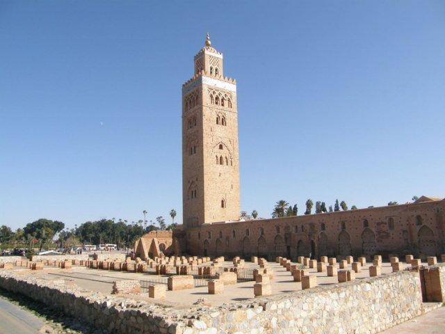 Мечеть Кутубия - это один из символов Марракеша, Марокко