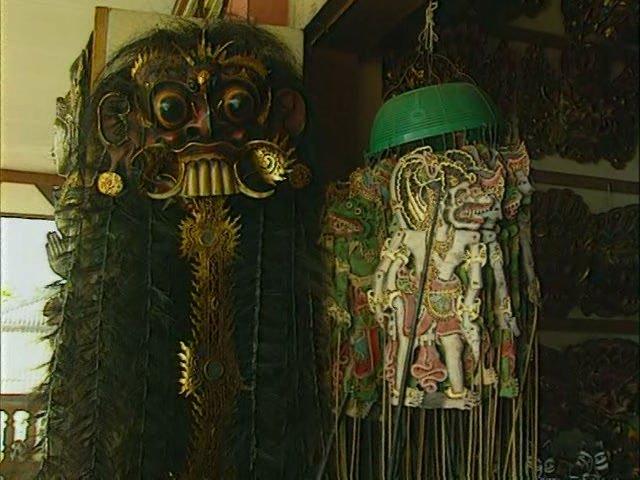 Товары на рынке в Убуде, остров Бали
