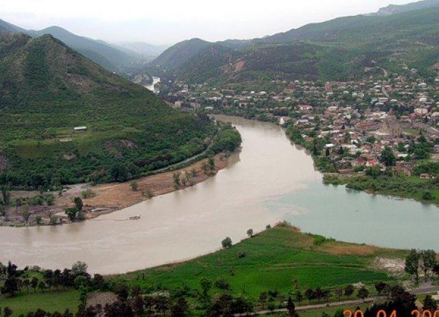 Вид с Горы Джвари, Тбилиси, Грузия