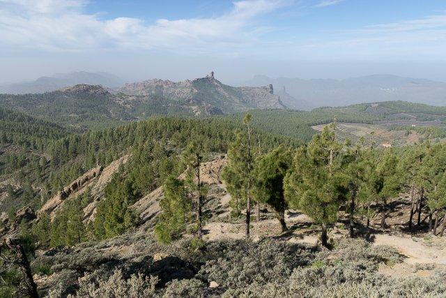 Вид с вершины вершины Пико-де-лас-Ньевес, Гран-Канария