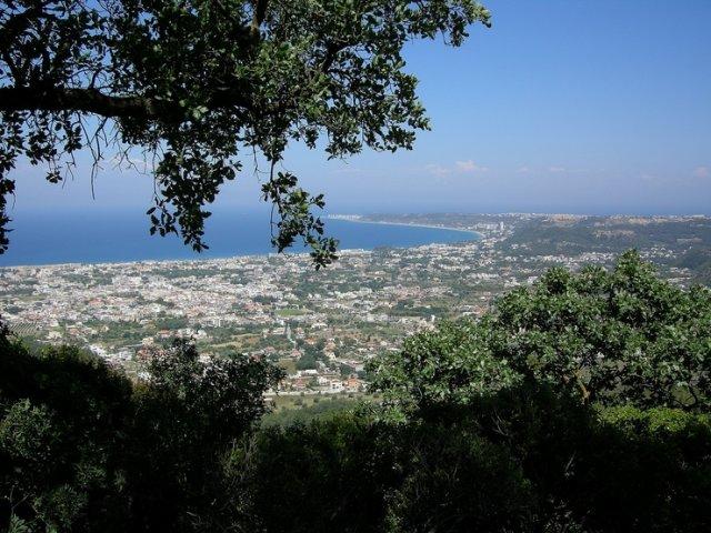Вид с горы Филеримос, остров Родос, Греция