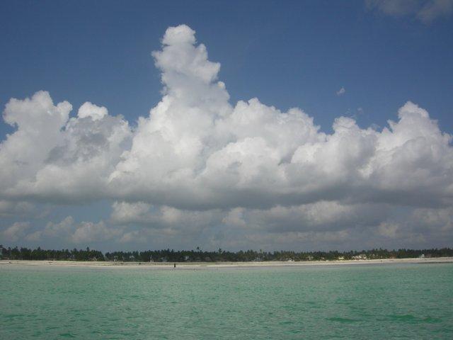 View to Jambiani beach
