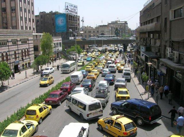 Город Дамаск - столица Сирии