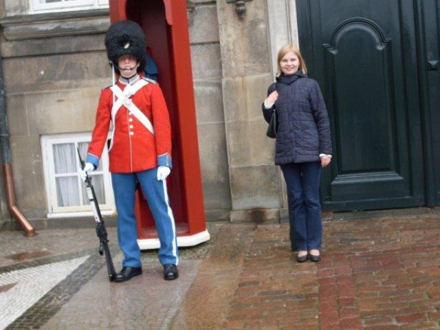 Копенгаген. С гвардейцем, который не разрешал с собой фото