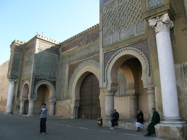 Городские ворота Баб-Мансур, Мекнес, Марокко