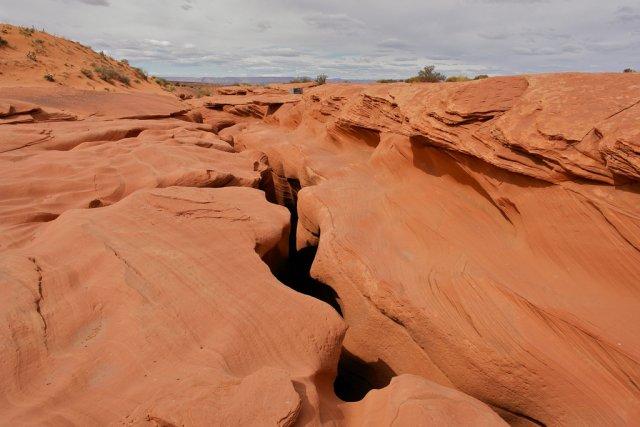 Вид сверху на Каньон Антилопы, США