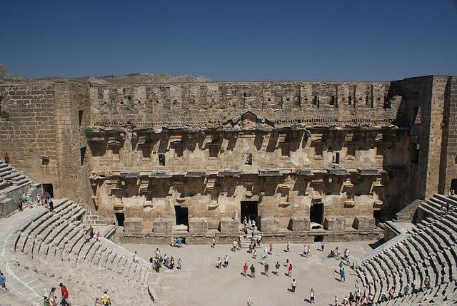 Театр в Аспендосе, Турция