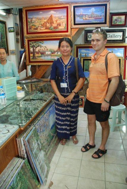 С гидом в Янгоне на Скот-маркете, Мьянма