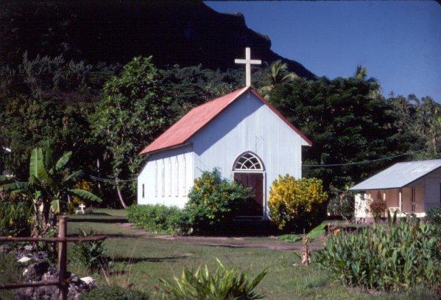 Церковь на Бора-Бора, Французская Полинезия