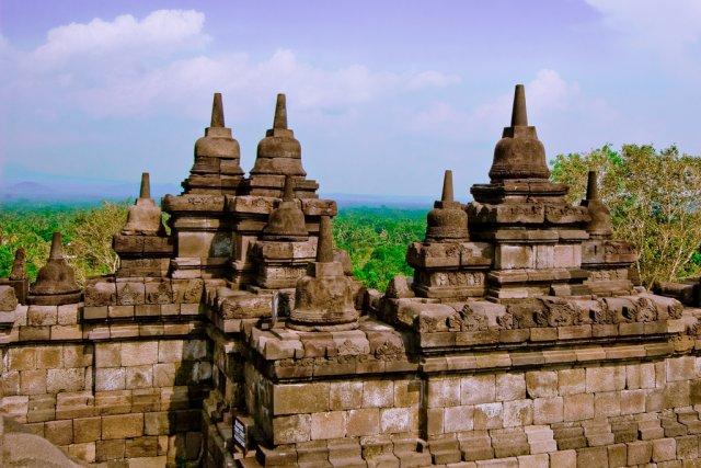 Храм Боробудур на острове Ява, Индонезия