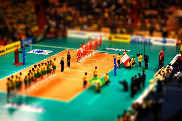 Волейбол Бразилия - Польша. Tilt-Shift