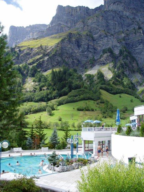 Термальные источники в Лейкербаде, Швейцария