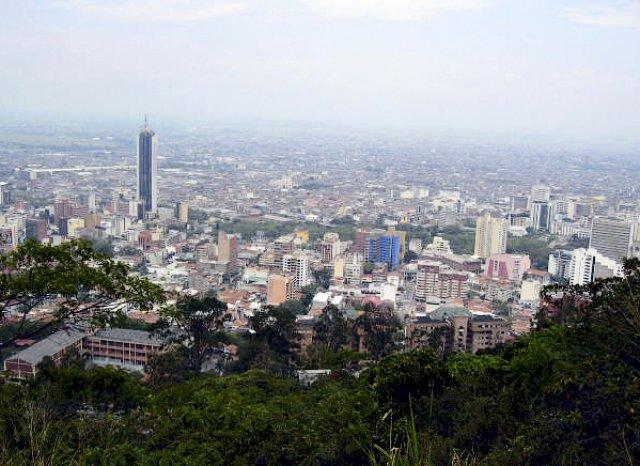 Вид на город Кали, Колумбия