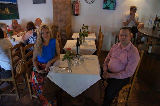 Праздничный ужин в ресторане Jardines de Zoraya. Гранада, Испания. Май, 2012