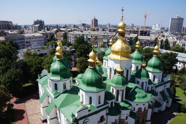 Софийский собор с колокольни, Киев