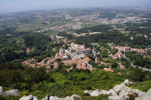 Вид из крепости на Синтру, Португалия