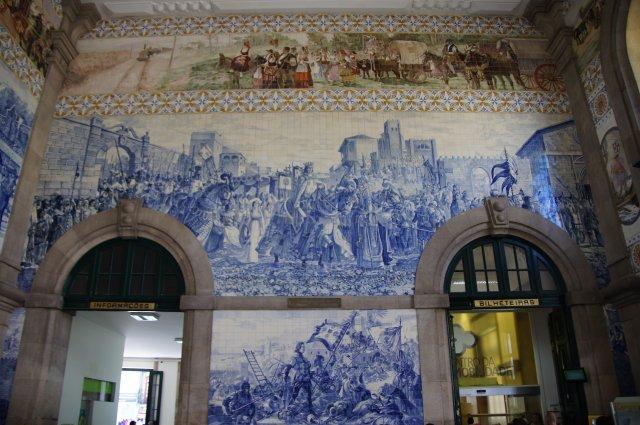 Изразцы внутри железнодорожного вокзала Порту