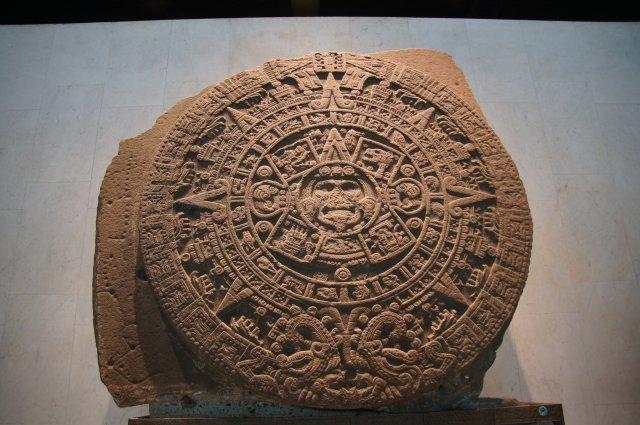 Календарь ацтеков, Национальный антропологический музей в Мехико