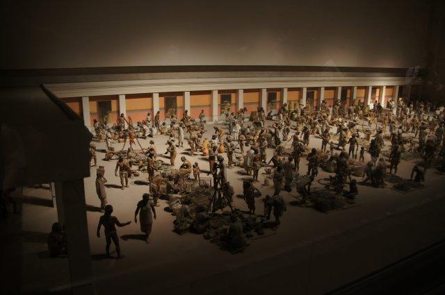 Макет рынка у ацтеков, Антропологический музей в Мехико