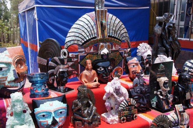 Маски из обсидиана, Теотиуакан, Мексика