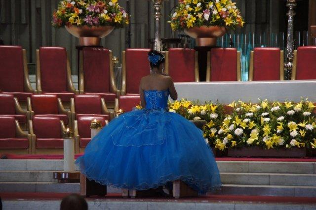 Церемония совершеннолетия в Церкви Девы Марии Гваделупской, Мехико