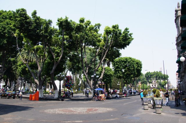 Площадь Сокало в Пуэбле, Мексика