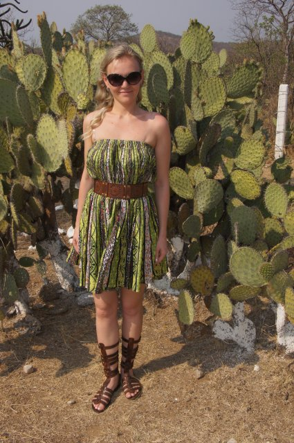 Фото с кактусом, Мексика