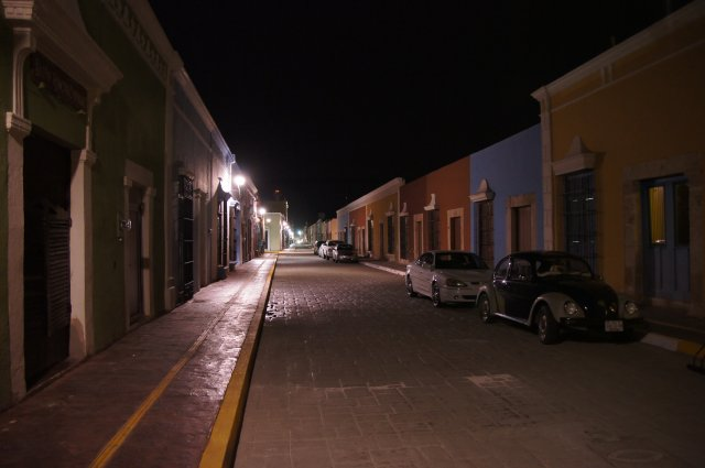 Улица города Кампече, Мексика