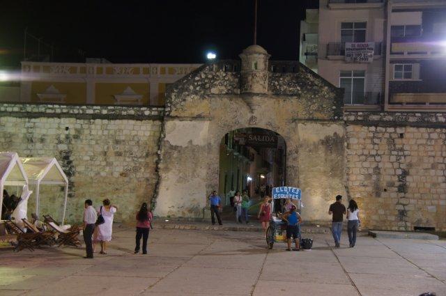 Крепостная стена в Кампече, Мексика