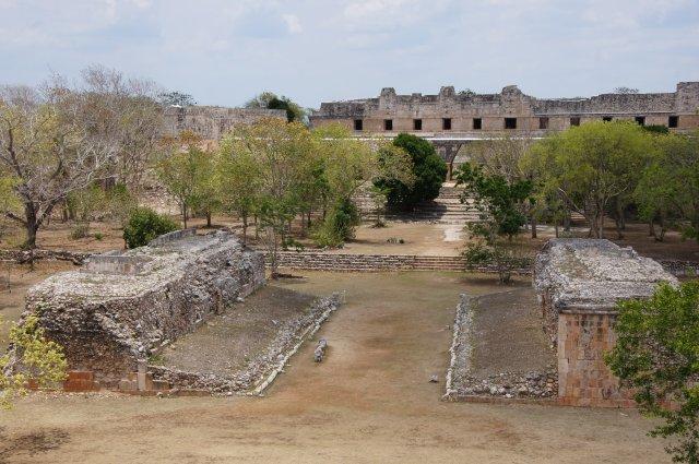 Вид с Большой Пирамиды, Ушмаль, Мексика