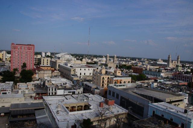 Вид из номера отеля Castellano 4*, Мерида, Мексика