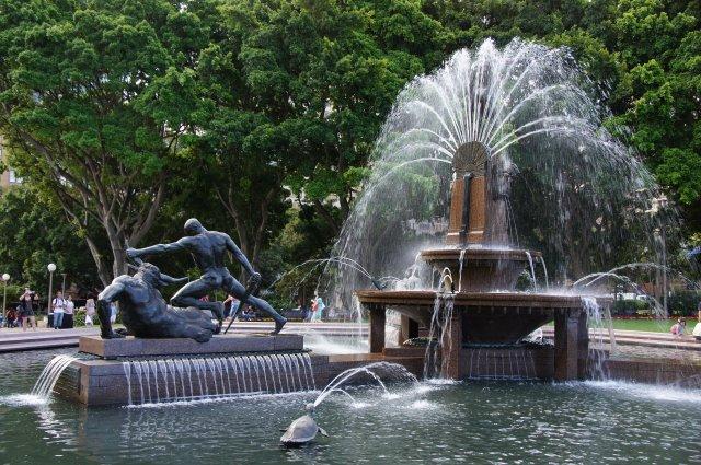 Фонтан в Гайд Парке, Сидней, Австралия